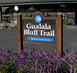 Gualala Bluff trail sign