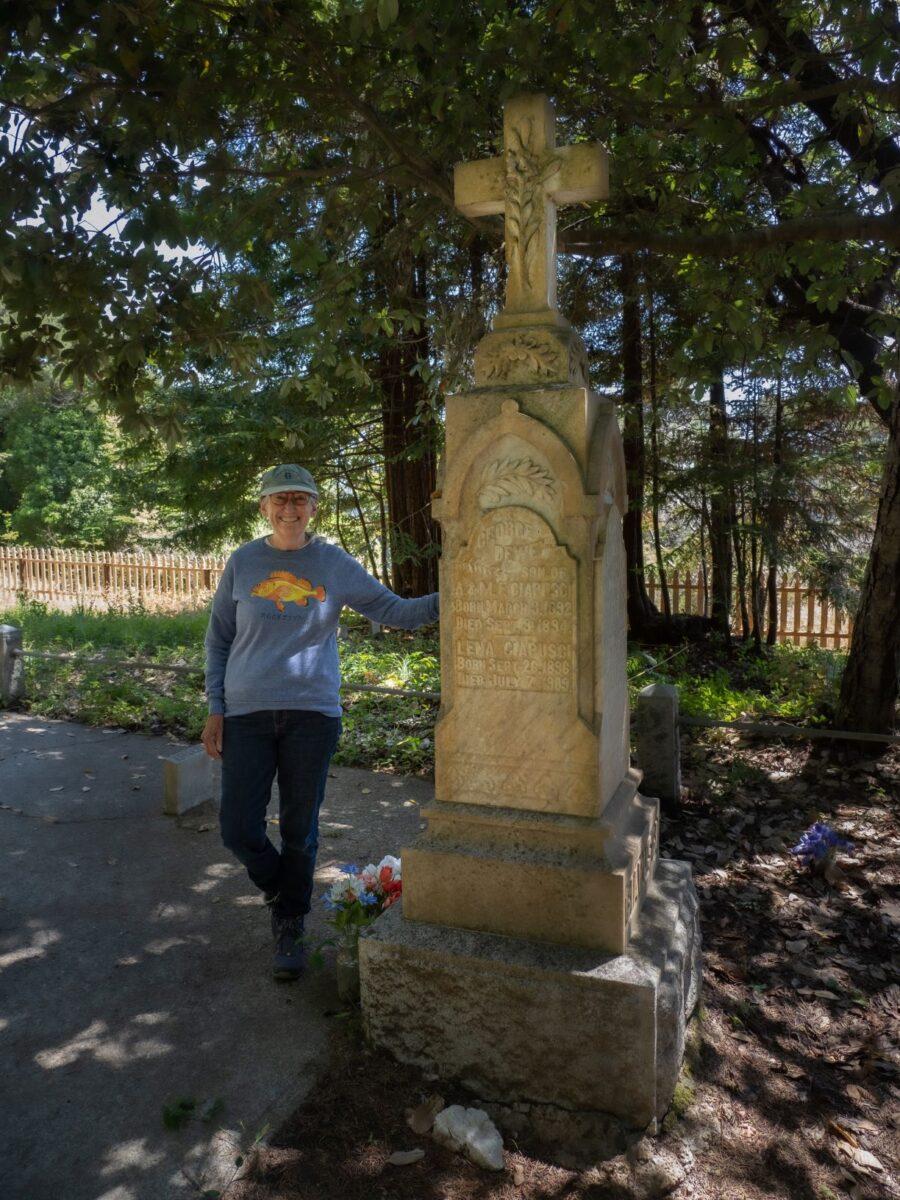 Marilyn Green in Gualala Cemetery
